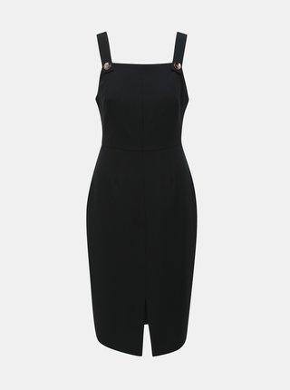 Černé pouzdrové šaty na ramínka Dorothy Perkins