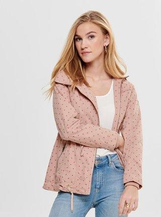 Jacheta parka roz lejera cu buline ONLY Tina