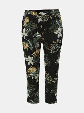 Zeleno-černé květované kalhoty Dorothy Perkins Curve