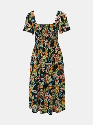 Rochie midi neagra florala Dorothy Perkins