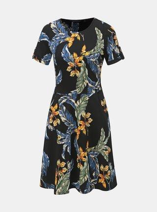 Rochie neagra florala cu buzunare Dorothy Perkins