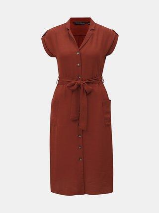 Tehlové košeľové šaty Dorothy Perkins