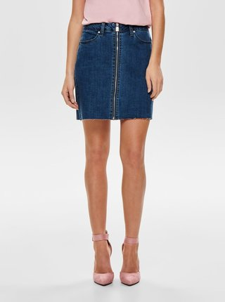 Fusta mini albastra din denim ONLY Pearl