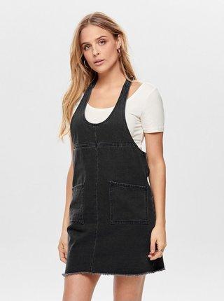 Tmavě šedé džínové šaty ONLY Tenna