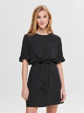 Černé puntíkované šaty Jacqueline de Yong Iggy