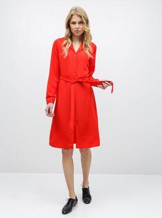 Červené košeľové šaty VERO MODA Camila