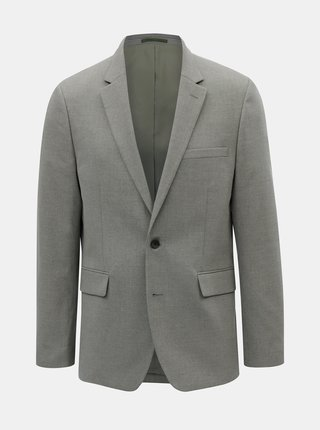 Sivé oblekové tailored fit sako Burton Menswear London