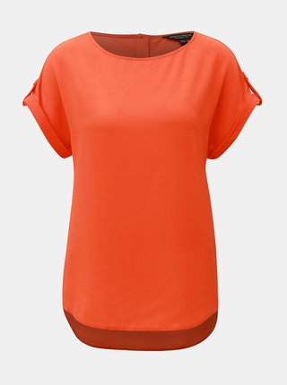 Oranžová voľná blúzka s gombíkmi na chrbte Dorothy Perkins