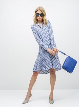 Rochie tip camasa alb-albastru in dungi Jacqueline de Yong Isabel