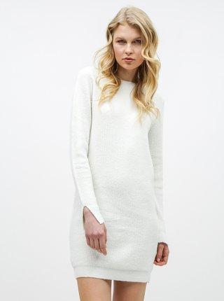 Krémové svetrové šaty s výstřihem na zádech VERO MODA Doffy