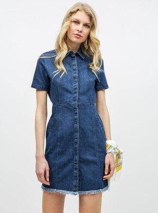 Modré džínové košilové šaty Noisy May Ariel