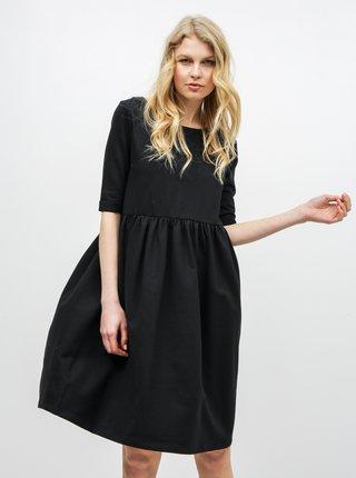 Čierne voľné šaty s vreckami ZOOT