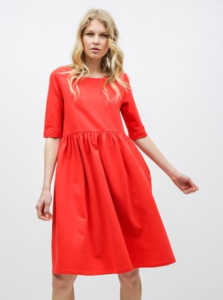 Červené voľné šaty s vreckami ZOOT