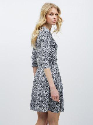 Šedé šaty s hadím vzorem Dorothy Perkins