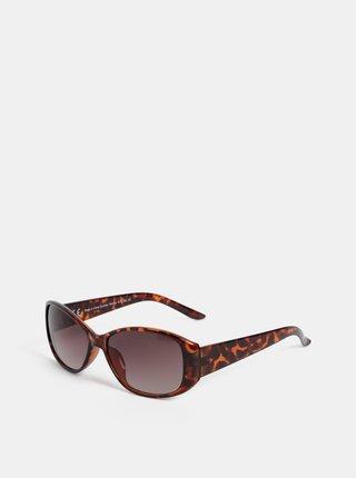 Tmavohnedé vzorované slnečné okuliare Dorothy Perkins