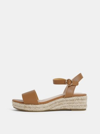 Hnedé sandálky na platforme Dorothy Perkins