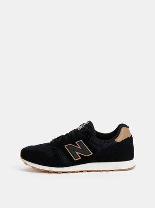 Pantofi sport barbatesti negri din piele intoarsa New Balance 373