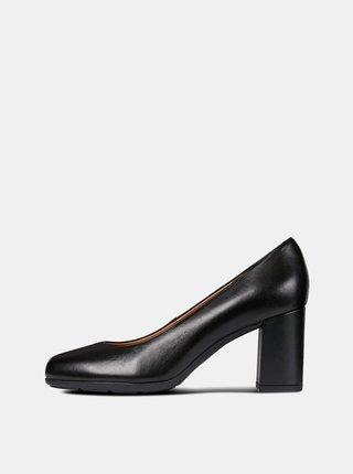 Pantofi negri din piele Geox New Anny