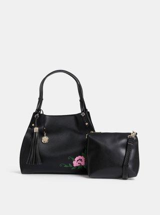 Černá kabelka s výšivkou 2v1 Bessie London
