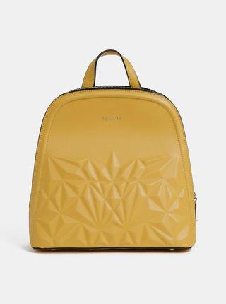 Hořčicový vzorovaný batoh Bessie London