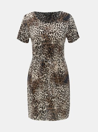 Hnedé šaty s leopardím vzorom Miss Selfridge