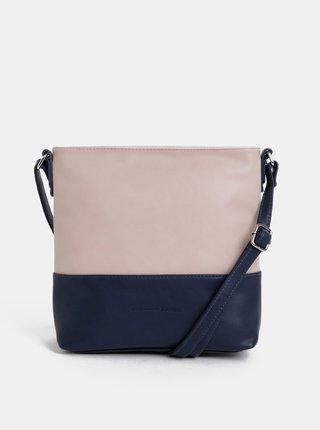 Růžovo-modrá crossbody kabelka Tom Tailor Denim Judith
