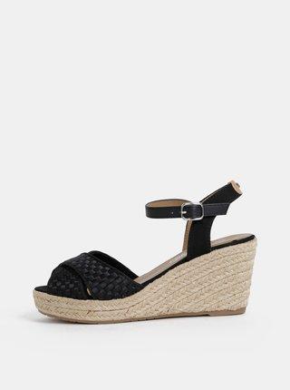 Čierne sandálky Tom Tailor