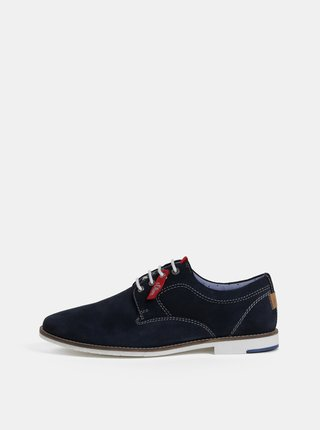 Pantofi barbatesti albastru inchis din piele intoarsa s.Oliver