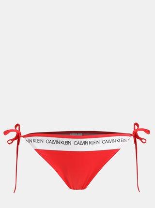 Červený dámsky spodný diel plaviek Calvin Klein Underwear