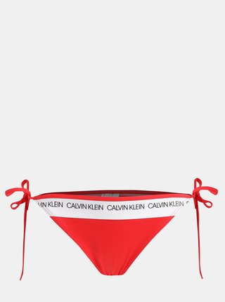 Slip de baie rosu de dama Calvin Klein Underwear