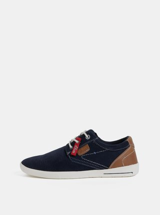 Pantofi sport barbatesti albastru inchis din piele intoarsa s.Oliver