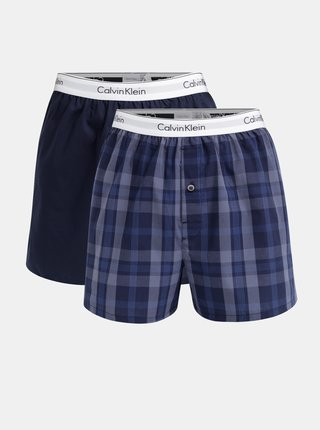 Set de 2 boxeri barbatesti albastru slim fit Calvin Klein Underwear
