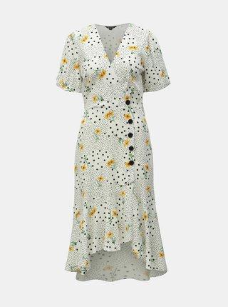 Biele kvetované šaty Miss Selfridge