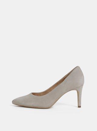 Pantofi gri din piele intoarsa s.Oliver