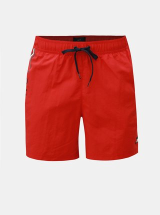 Červené pánské slim fit plavky s potiskem Tommy Hilfiger
