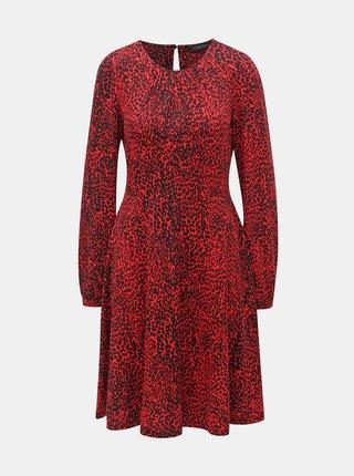 Černo-červené šaty s gepardím vzorem Dorothy Perkins