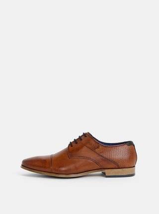 Pantofi barbatesti maro din piele bugatti