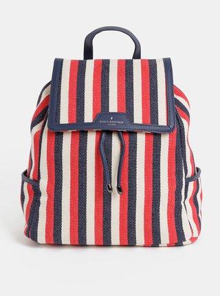 Modro–červený pruhovaný batoh Paul's Boutique Cassandra