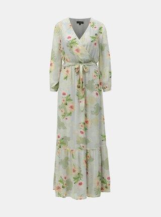 Světle zelené květované maxišaty Dorothy Perkins