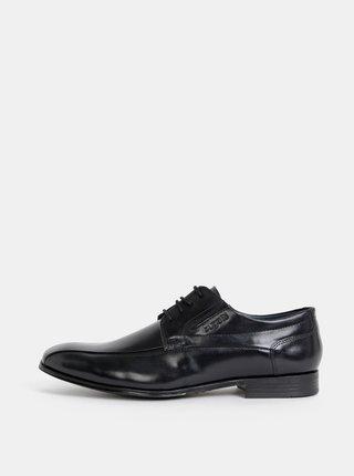 Pantofi barbatesti negri din piele bugatti