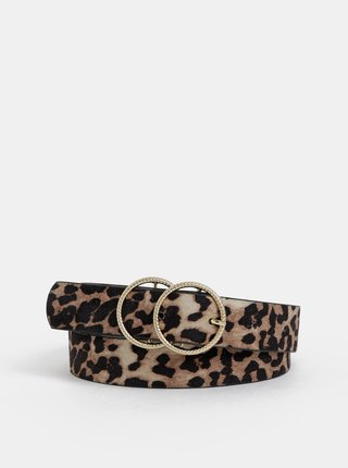 Curea maro cu motiv leopard Dorothy Perkins