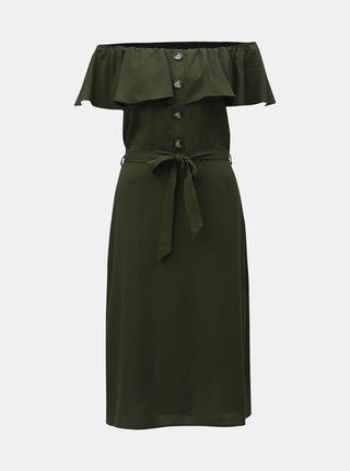 Rochie verde inchis cu decolteu pe umeri Dorothy Perkins