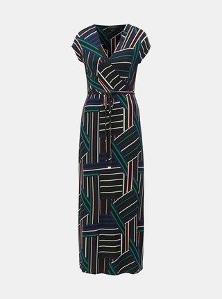 Čierne vzorované maxišaty Dorothy Perkins