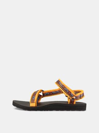 Sandale oranj de dama cu model Teva
