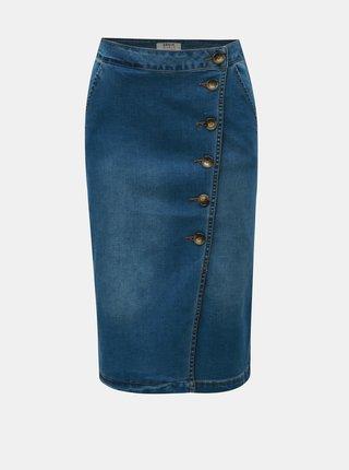 Modrá džínová sukně s knoflíky Dorothy Perkins