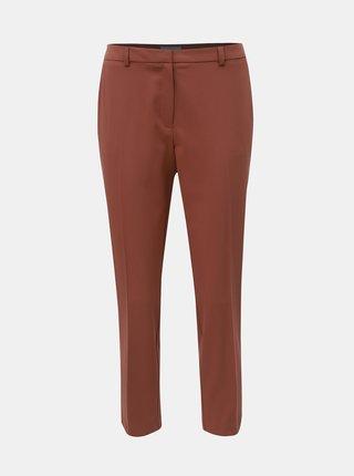 Hnědé zkrácené kalhoty Dorothy Perkins Petite