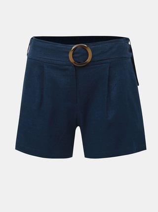 Pantaloni scurti albastru inchis cu amestec de in Dorothy Perkins