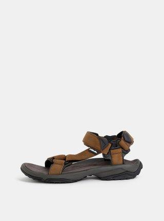 Hnedé pánske kožené sandále Teva