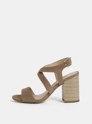 Hnedé sandále na podpätku Dorothy Perkins