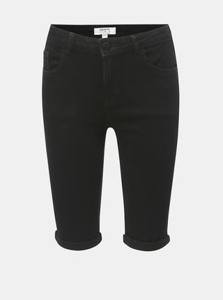 Pantaloni scurti negri regular fit din denim Dorothy Perkins